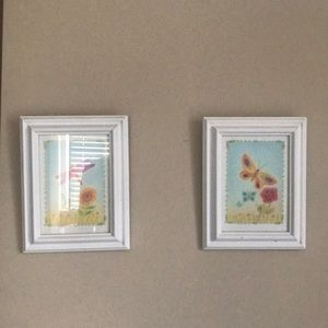 Two wall arts for girls room